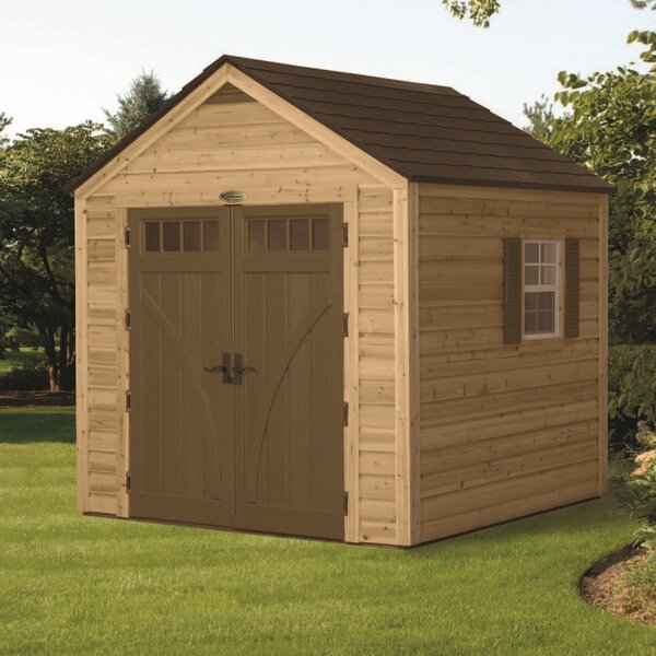 American 7 ft. 10 in. W x 7 ft. 10 in. D Wooden Storage Shed by Suncast