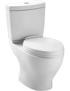 Aquia Dual-Flush Elongated Two-Piece Toilet (Seat Not Included) ByToto