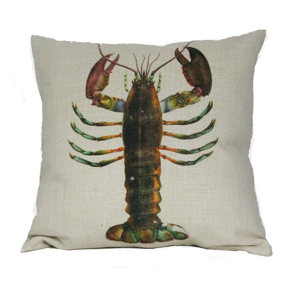 Lobster Pillow Cover by Golden Hill Studio