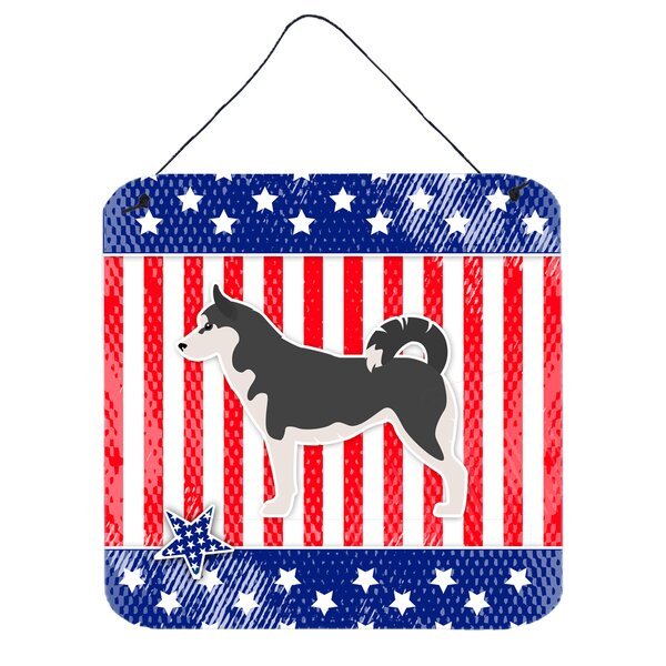 Patriotic Siberian Husky Metal Wall Décor by The Holiday Aisle
