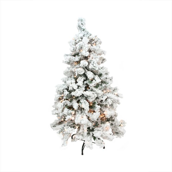 Flocked Tree 778 Tips 450 Light by Northlight Seasonal