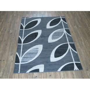 Inexpensive Lakin Casual Gray/Black Indoor/Outdoor Area Rug By Latitude Run