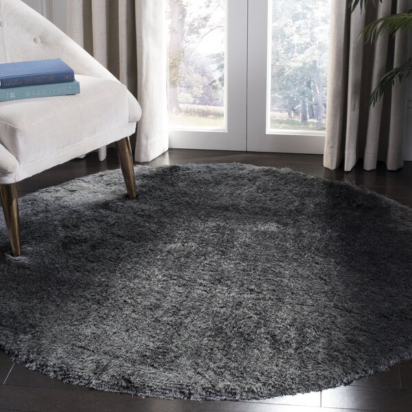 Hadar Shag Hand Tufted Slate Area Rug  by Willa Arlo Interiors