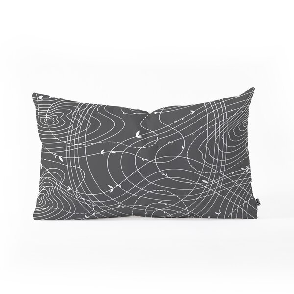 Iveta Abolina the Tangled Web Oblong Indoor/Outdoor Lumbar Pillow