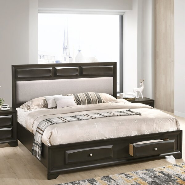 Beagan Wood Upholstered Storage Platform Bed by Winston Porter