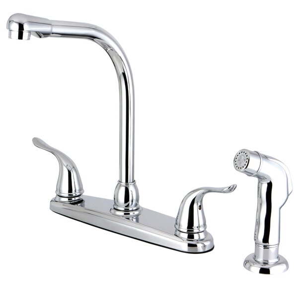 Yosemite Double Handle Kitchen Faucet with Side Spray by Kingston Brass