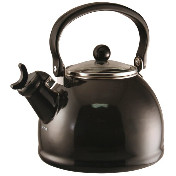Hippolyte 2.2 Qt. Whistling Stove Tea Kettle by Wrought Studio