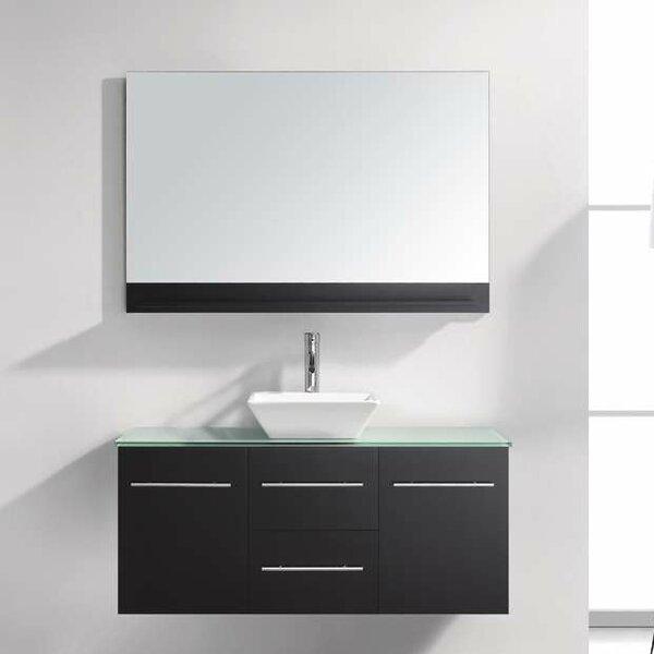 Decastro 47 Wall-Mounted Single Bathroom Vanity Set with Mirror by Mercury Row