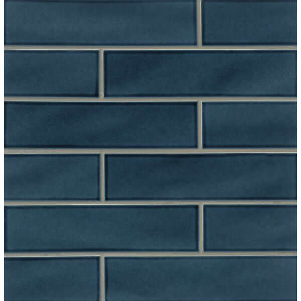 Park Place 3.88 x 16 Ceramic Field Tile in Dark Blue by Grayson Martin