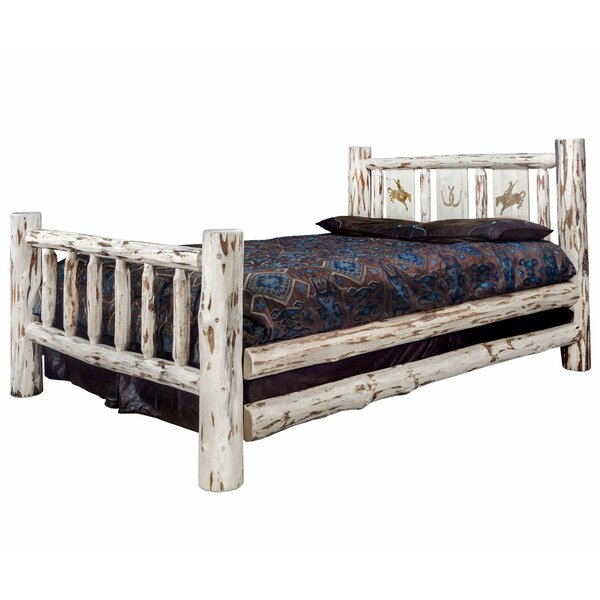 Antigo Laser Engraved Bronc Standard Bed by Millwood Pines