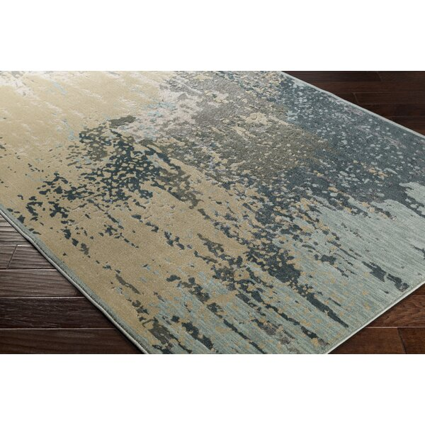 Barrow Beige/Blue Indoor Area Rug by 17 Stories