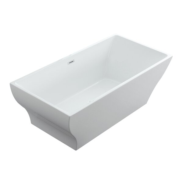 Hera 71 x 32 Freestanding Soaking Bathtub by Eisen Home