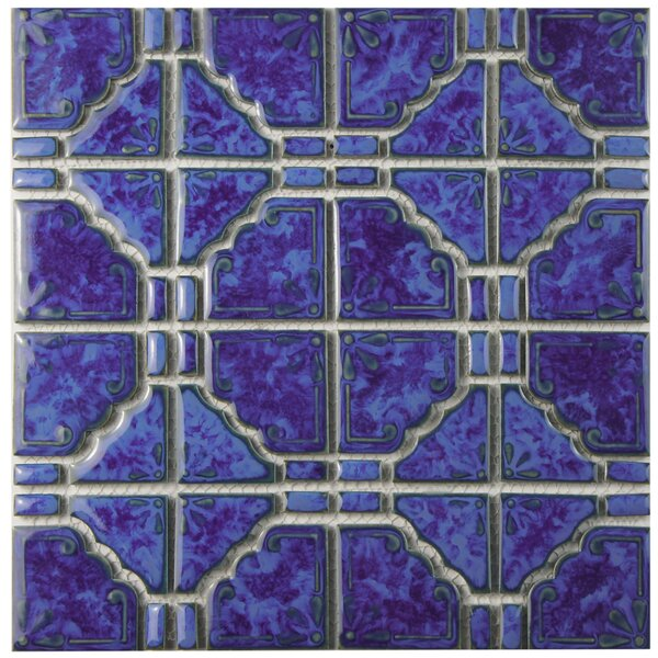 Elara Random Sized Porcelain Mosaic Tile in Blue by EliteTile