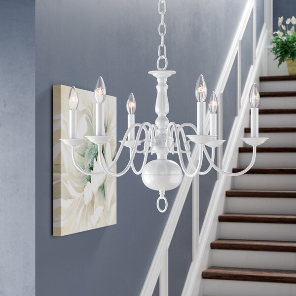 Pogue 6 - Light Candle Style Traditional Chandelier By Alcott Hill