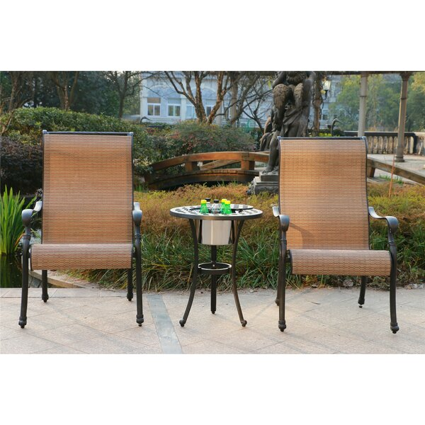 Ballew Aluminum 3 Piece Bistro Set by Canora Grey