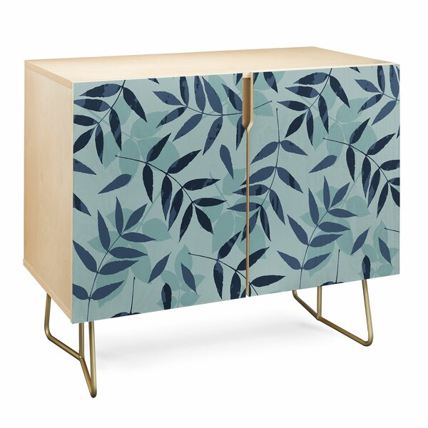Mareike Boehmer Leaves Scattered 1 Accent Cabinet by East Urban Home East Urban Home