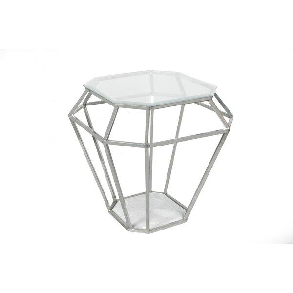 Diamond End Table by Fashion N You by Horizon Interseas