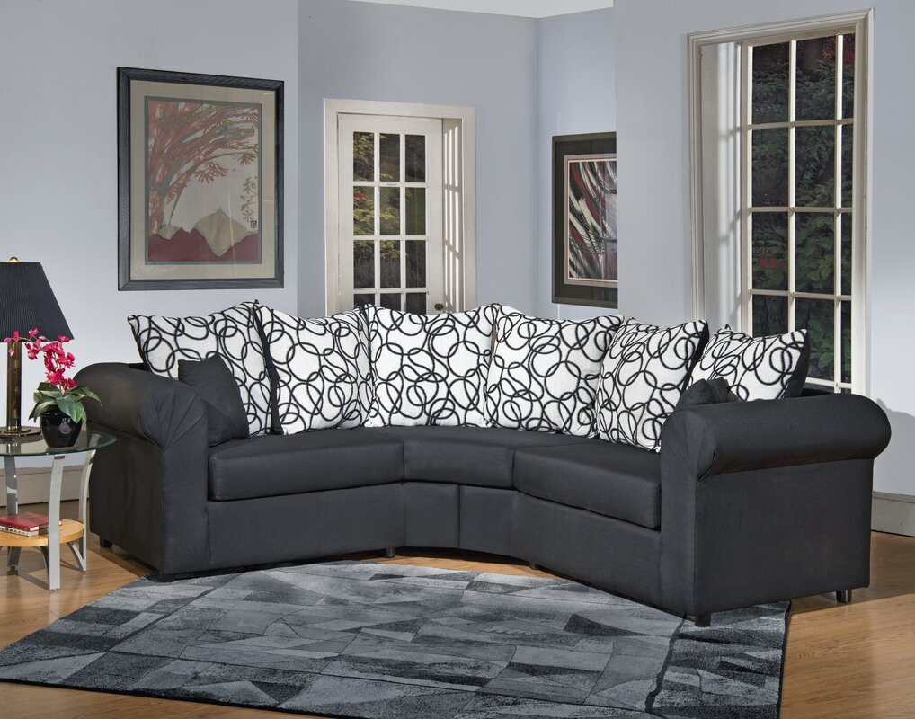 latitude run lila sectional reviews wayfair. Black Bedroom Furniture Sets. Home Design Ideas