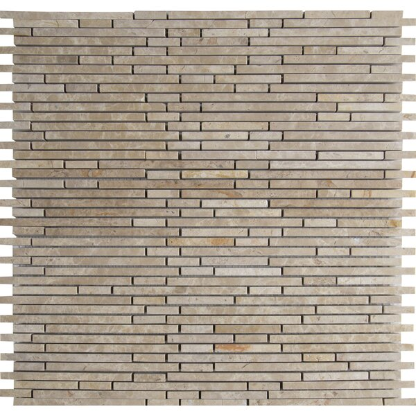Emperador Light Random Sized Marble Mosaic Tile in Beige by MSI