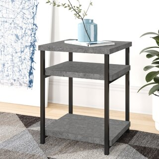 Annabelle Slate Faux Concrete Low End Table by Modern Rustic Interiors SKU:DE389213 Order