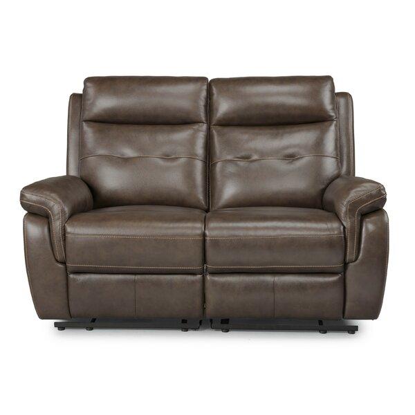 Incredible Sasheer Leather Reclining Loveseat By Latitude Run Sale Machost Co Dining Chair Design Ideas Machostcouk