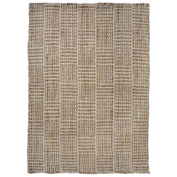 Allyssa Squares Hand-Woven Natural Area Rug by Gracie Oaks