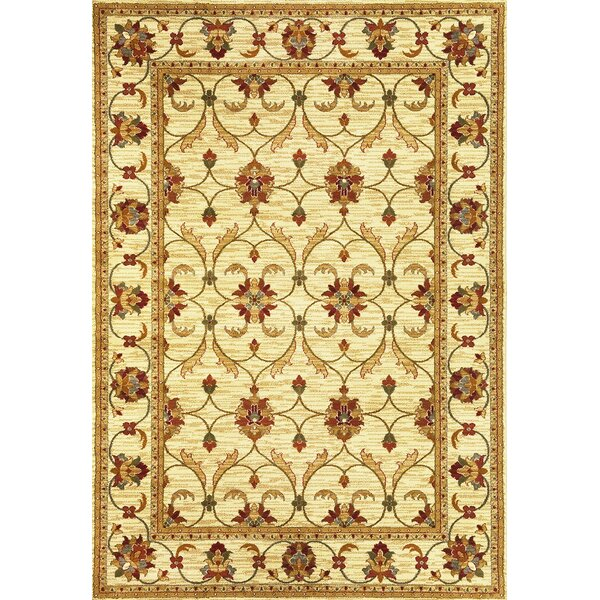 Antwerp Ivory Agra Area Rug by Charlton Home