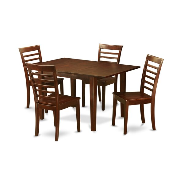 Lorelai 5 Piece Solid Wood Dining Set by Alcott Hill