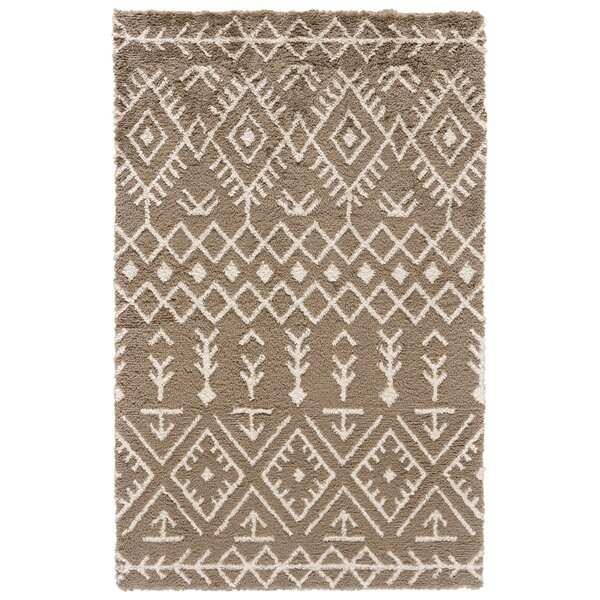 Reider Hand-Tufted Coffee/Cream Area Rug by Bloomsbury Market