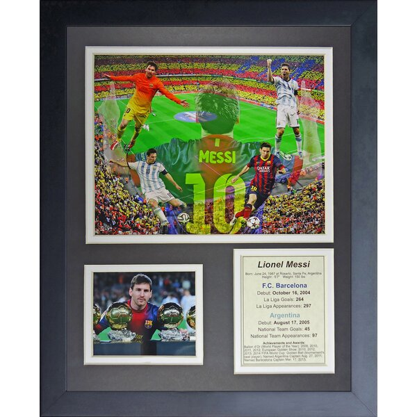 Lionel Messi Framed Memorabilia by Legends Never Die