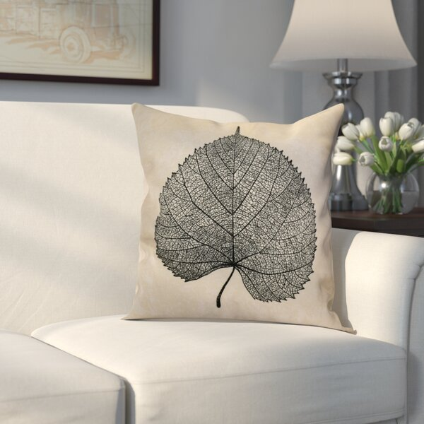 Miller Leaf Study Floral Throw Pillow by Alcott Hill