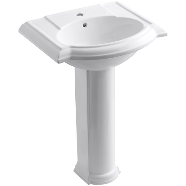Devonshire Ceramic 25 Pedestal Bathroom Sink with Overflow by Kohler