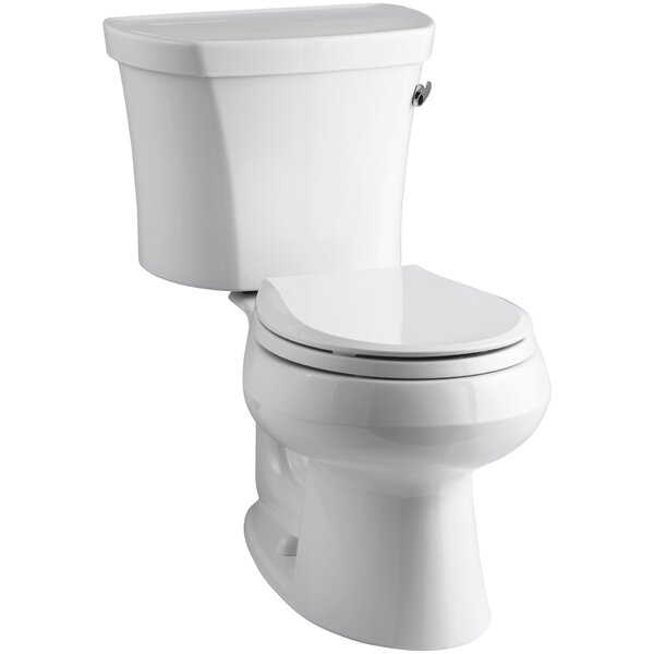 Wellworth Two-Piece Round-Front 1.28 GPF Toilet with Class Five Flush Technology and Right-Hand Trip Lever by Kohler