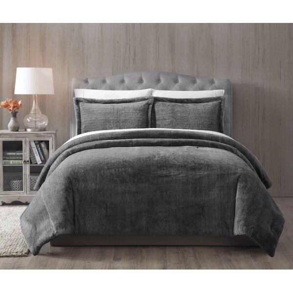 House Of Hampton Jame Faux Fur Reversible Comforter Set Reviews