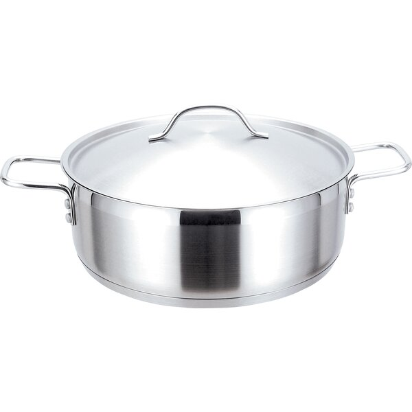 Strauss Pro Low Stainless Steel Round Casserole by MyCuisina