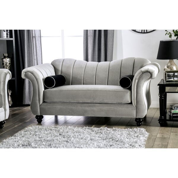 Latest Trends Drummond Flared Arms Loveseat by Rosdorf Park by Rosdorf Park