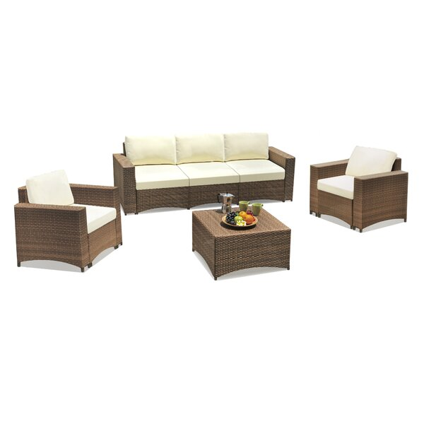Defranco Modular 4 Piece Sofa Seating Group with Cushions