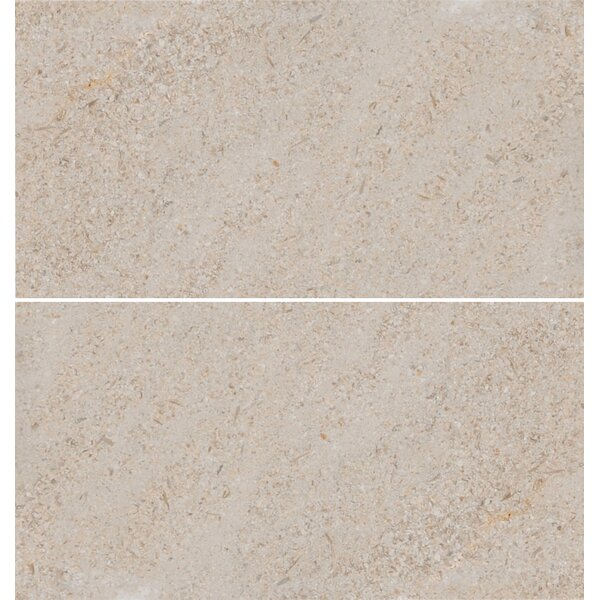 6 x 12 Limestone Field Tile in Sable by The Bella Collection
