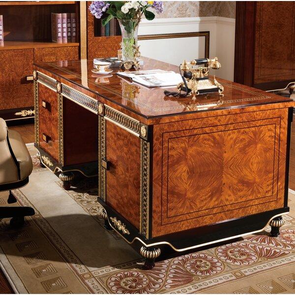 Saltville Reversible Solid Wood Executive Desk
