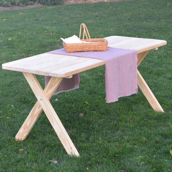 Stuyvesant Pine Cross-leg Picnic Table by Loon Peak