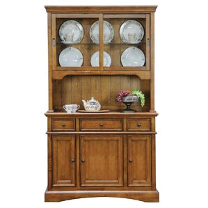 Lebanon Lighted China Cabinet by Alcott Hill
