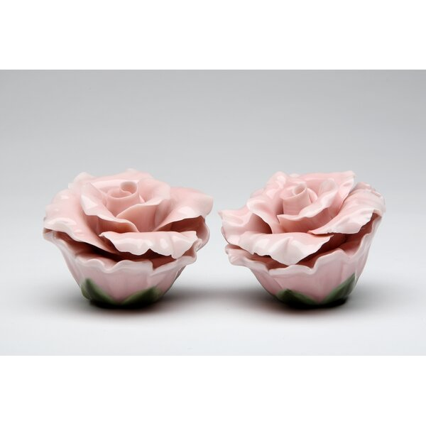 Rose Salt and Pepper Set by Cosmos Gifts