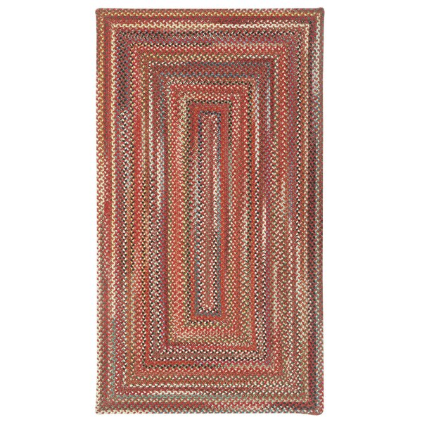 Burdock Red Area Rug by Loon Peak