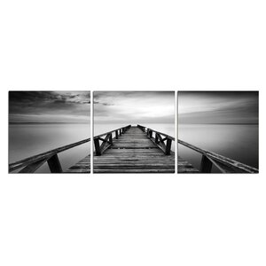 Pier in Chrome 3 Piece Photographic Print Set by 3 Panel Photo