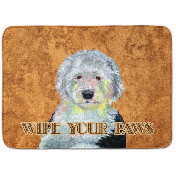 Old English Sheepdog Wipe Your Paws Memory Foam Bath Rug by East Urban Home