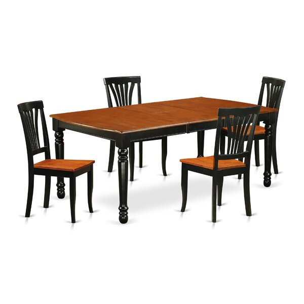 Pimentel 5 Piece Solid Wood Dining Set by August Grove August Grove
