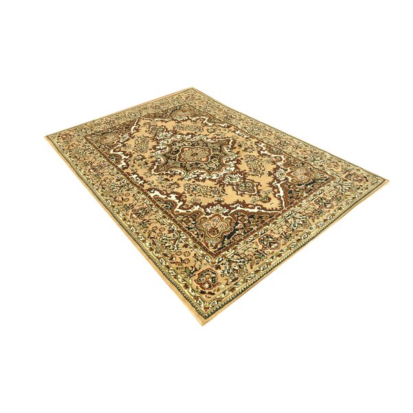 Sprowston Oriental Classic Hand-Tufted Brown/Beige Brown Area Rug by Charlton Home