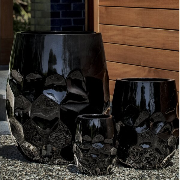 Rigsby 3-Piece Fiberglass Clay Composite Pot Planter by Brayden Studio