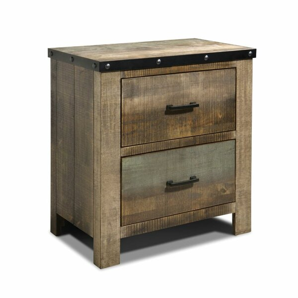 Shenandoah 2 Drawer Nightstand by Loon Peak