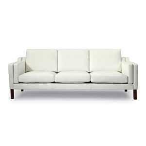 Rolando Mid Century Modern Leather Sofa by Corrigan Studio
